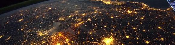 Des images époustouflantes de la station spatial internationale, bannière